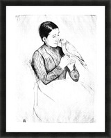 The parrot by Cassatt Picture Frame print