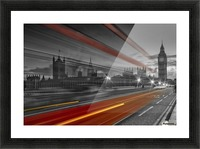 LONDON Red Bus Picture Frame print