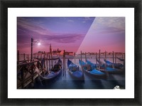 VENICE Gondolas at Sunset Picture Frame print