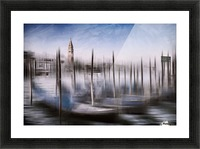Digital-Art VENICE Grand Canal and St Mark's Campanile Picture Frame print