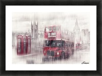 City-Art LONDON Westminster Collage II Picture Frame print