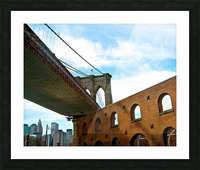 Old Fulton Street  Picture Frame print