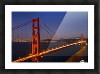 Golden Gate Bridge at Night Picture Frame print