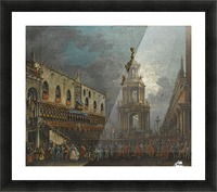 A view of the Piazzetta at Carnival, Venice Picture Frame print