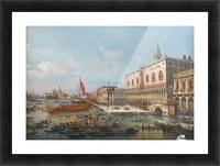 The Departure of the Bucintoro from San Marco to San Nicolo Del Lid Picture Frame print