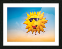 Forecast Clear and Sunny Picture Frame print