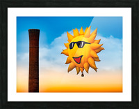 Sunny and the Smokestack Picture Frame print