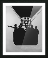 Basket Full Of Aeronauts Picture Frame print