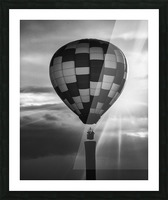 Hot Air Balloon On A Smokestack Picture Frame print