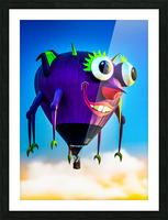 Flying Purple People Eater Picture Frame print