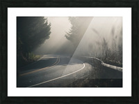 Pacific Coast Highway Mist Picture Frame print