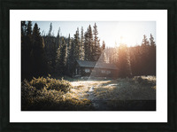 Rocky Mountain Cabin Picture Frame print