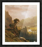 Sunset in the Mountains, 1859 Picture Frame print