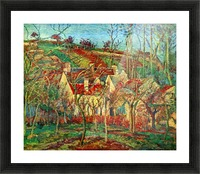 The red roofs by Pissarro Picture Frame print