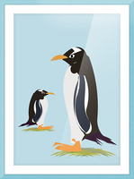 Gento Penguin Picture Frame print