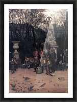 The return march in the Tuileries by Tissot Picture Frame print