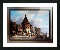 Schreierstoren by Willem Koekkoek Fine Art Old Masters Reproduction Picture Frame print
