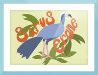 The Sarus Crane Picture Frame print