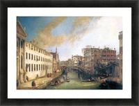The River of Mendicanti by Canaletto Picture Frame print