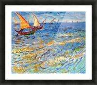 The sea at Saintes-Maries by Van Gogh Picture Frame print