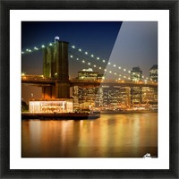 Night-Skylines NEW YORK CITY Picture Frame print