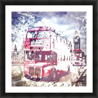 City-Art LONDON Red Buses on Westminster Bridge Picture Frame print