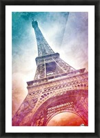 Modern-Art EIFFEL TOWER Picture Frame print