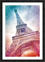 Modern-Art EIFFEL TOWER Picture Frame print