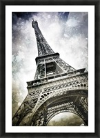 Modern-Art PARIS Eiffel Tower Splashes Picture Frame print