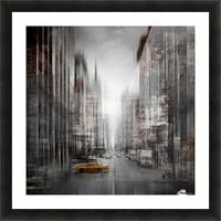 City-Art NYC 5th Avenue Picture Frame print