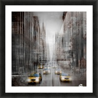 City-Art NYC 5th Avenue Traffic Picture Frame print