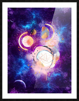 Dream Art XVIII - Cosmic World Picture Frame print