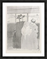 The streetcar by Cassatt Picture Frame print