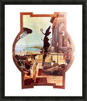 The Theatre of Taormina by Klimt Picture Frame print