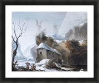 Snowy Landscape Picture Frame print