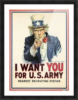 I Want You, 1917 Picture Frame print
