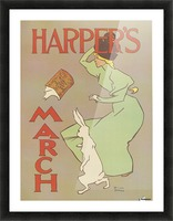 Harpers March Edward Penfield Mini Poster Picture Frame print