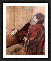 The violinist 1 by Degas Picture Frame print