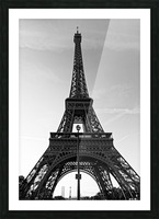 Eiffel tower in black  Impression et Cadre photo