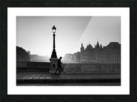 Walk and phone  Impression et Cadre photo