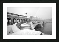 Paris under snow Impression et Cadre photo