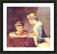 The young teacher by Jean Chardin Picture Frame print