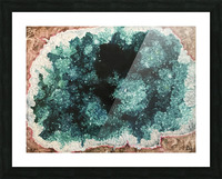 Green Geode Picture Frame print