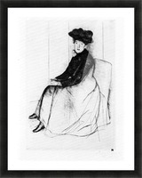 Thoughtfully by Cassatt Picture Frame print