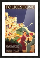 English Art Deco Period Travel Poster for Folkestone by Danvers, 1934 Picture Frame print