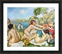 Three bathing girls with crab by Renoir Picture Frame print
