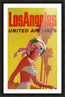 Los Angeles United Air Lines Picture Frame print
