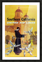 United Air Lines Southern California Monk Picture Frame print