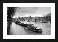 Ile de la Cite flood Impression et Cadre photo