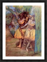 Three dancers behind the scenes by Degas Picture Frame print